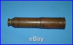 Ww2 U Boat German Navy Military Nautical Spyglass Mark Stamped Estate Find