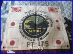Wwii Usn Pt Boat Motor Torpedo Boat Sqdn 11 Pt-175 Ready Room Wall Flag