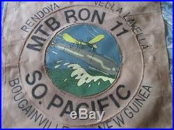 Wwii Usn Pt Boat Motor Torpedo Boat Sqdn 11 South Pacific Ready Room Wall Flag