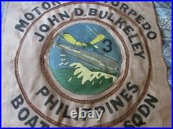Wwii Usn Pt Boat Motor Torpedo Boat Sqdn 3 John Bulkeley Ready Room Wall Flag