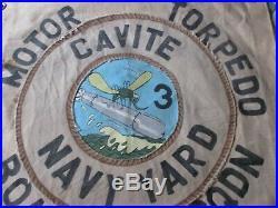 Wwii Usn Pt Boat Motor Torpedo Boat Sqdn 3rd Cavite Ready Room Wall Flag