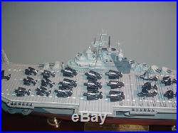 Yorktown Battleship Wwii Signature Le 172/1943 Franklin Mint With Dust Cover