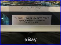 (rare) Battleship New Jersey Serigraph Print By Int'l Artist Kamil Kubik